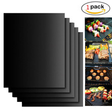 BBQ Grill Mat Barbecue Outdoor Baking Non-stick Pad Reusable Teflon Cooking Plate 40 * 30cm for Party PTFE Grill Mat Accessories