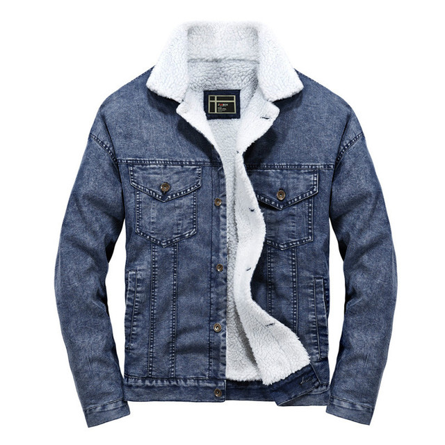 2020 Wool Liner Denim Jacket Men Winter Warm High Quality Mens Jackets Size S-2XL Outwear Cowboy Jeans Jacket jaqueta masculina