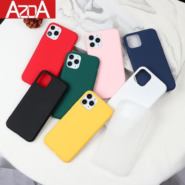 NEW Color Silicone Cases For iPhone 11 Pro Max XR X XS Max 6 6S 7 8 Plus 5 5S SE 2020 Phone Case Candy Color Soft Simple Fashion