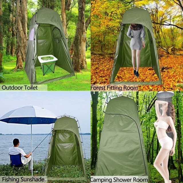 Outdoor Shower Bath Tent Portable Beach Tents Changing Fitting Room Tent Camping Privacy Toilet Shelter Beach With Carry Bag