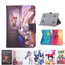 Case for Universal 10'' ~ 10.1 Inch Tablet PC Print Cartoon PU Leather Flip Kid Color Printing PU Leather Stand Folio Cover +pen
