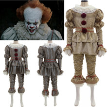 Movie It: Chapter Two Pennywise Cosplay Costume Clown Halloween Costumes Gloves Mask Adult Kids