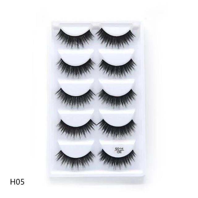 5 Pairs 3D Mink Hair False Eyelashes Natural Thick Long Eye Lashes Wispy Makeup Beauty Extension Tools for beauty H05