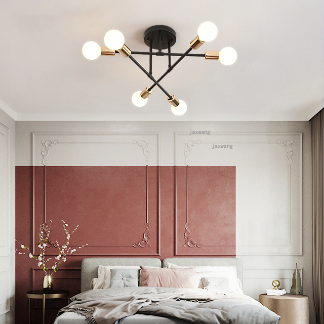 The Nordic Ceiling Lights Living Room Led Hanging Luminaire Modern Bedroom Decor Home Ceiling Lamp Study Room Light Fixtures