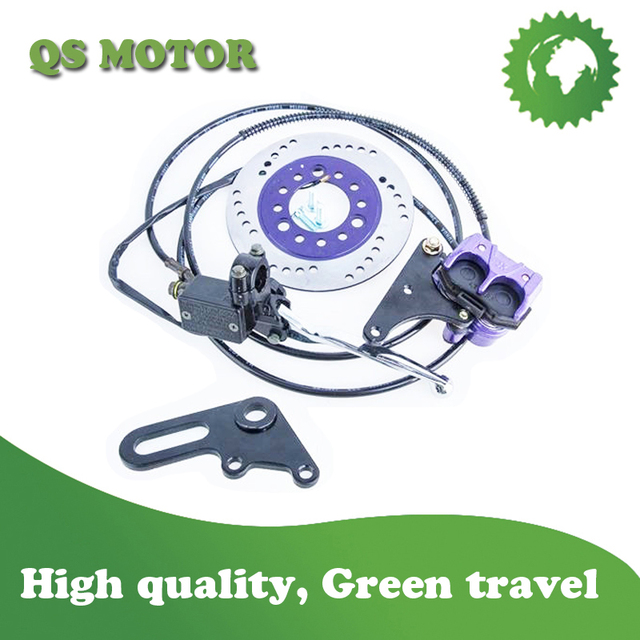 Disc brake caliper system for Electric scooter and electric motorcycle rear motor