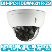 DH IPC-HDBW4631R-ZS 6MP IP Camera CCTV POE Motorized Focus Zoom 50M IR SD card slot Network Camera H.265 IK10