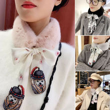 New Fashion Xmas Winter Warm Women Rex Rabbit Fur Collar Scarf Shawl Neck Warmer Scarves