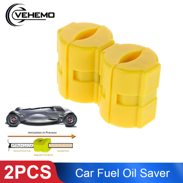 Vehemo 2pcs Cars Fuel Economizer Fuel Saver Magnetic Effective Engine Protect Auto Accessories Magnetic Oil Saver Scooter