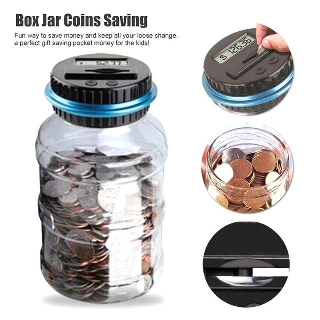 3 Styls Piggy Bank Counter Coin Electronic Digital LCD Counting Coin Money Saving Box Jar For USD EURO GBP Money Children Gift