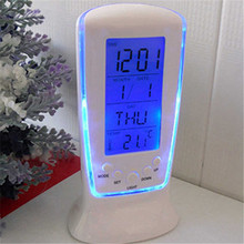 Digital Calendar Temperature LED Digital Alarm Clock with Blue Backlight  Electronic Calendar Thermometer Led Clock With Time