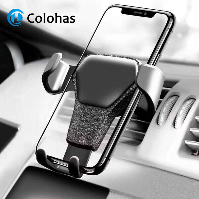 Gravity Car Holder For Phone in Car Air Vent Clip Mount No Magnetic Mobile Phone Holder Cell Stand Support For iPhone X 7 huawei