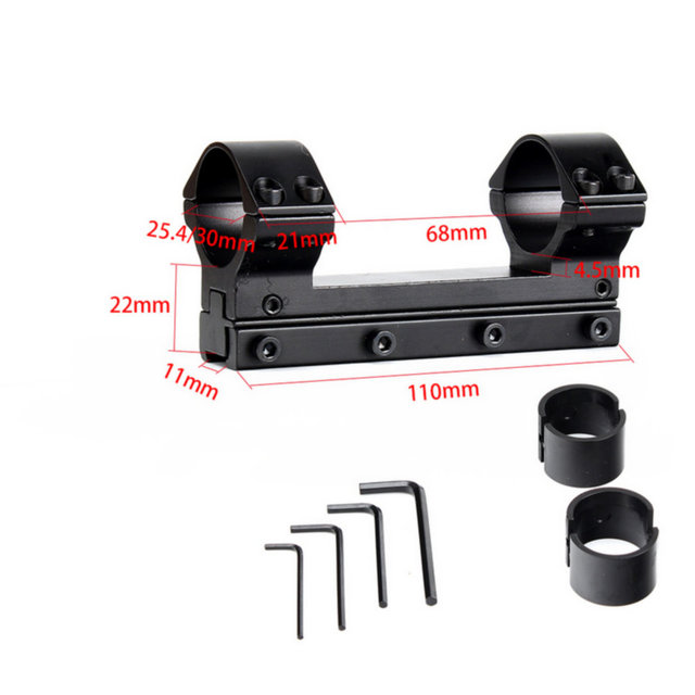 Hunting 25.4mm 30mm High Profile 11mm Dovetail Airgun Rings with Windage Elevation Fully Adjustable Scope Mount Ring