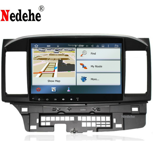 Nedehe Octa core 4G+64G Android 8.1 car dvd player GPS navigation Car Radio Stereo Audio for MITSUBISHI LANCER 2008-2015