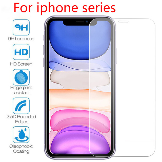Full Cover Glass On iPhone 11 Pro Max Tempered Glass For iPhone 7 8 6 6S Plus 5 5S X XS Max XR SE 2020 Screen Protector