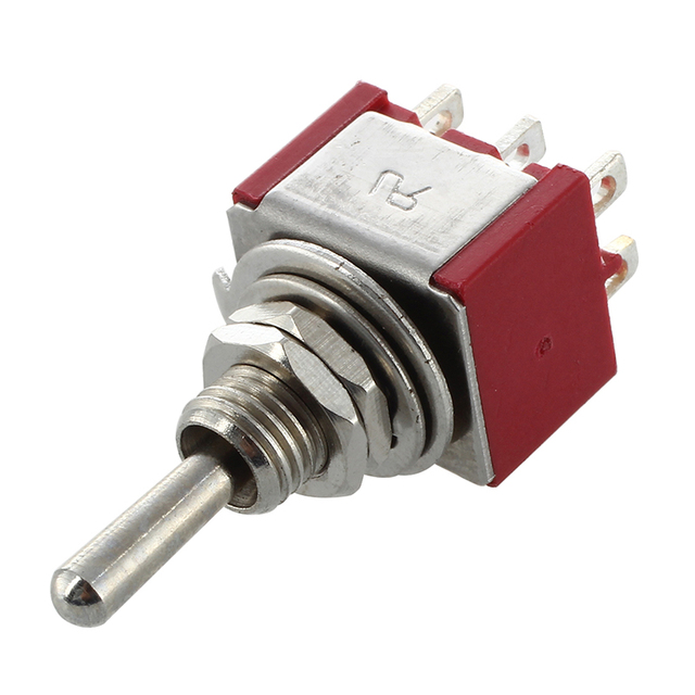 WSFS Hot Mini Toggle Switch DPDT ON-ON Two Position Red 2A 250V 5A 120V