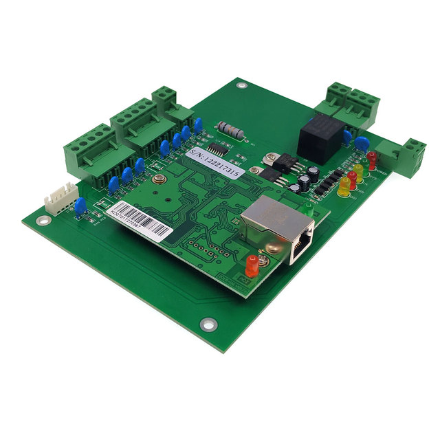 TCP/IP Single Door access control access board  Wide voltage 100-240V high-power 120W 10A power supply touch /IR exit button tag