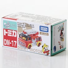 S10 Takara Tomy Dream Tomica Disney Motors DM-17 Mickey Mouse Fire Truck Metal Diecast Vehicle Toy Car