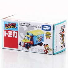 S10 Takara Tomy Tomica Disney Motors Good Day Carry Mickey Mouse & Roadster Racers Metal Diecast Vehicle