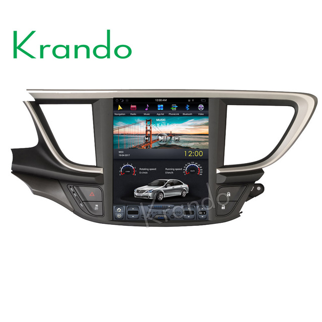 """Krando Android 9.0 10.4"""" Tesla Vertical touch screen car audio system for Buick Excelle 2015+ GPS entertainment system"""