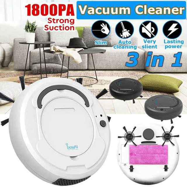 3-In-1 Robot Vacuum Cleaner Auto Smart Dry Wet Sweeping Robot Vacuum Cleaner, Multifunctional Robot Vacuum Cleaner For Home