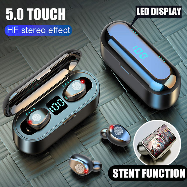H&A Bluetooth V5.0 Earphone Wireless Earphones Stereo Sport Wireless Headphones Earbuds Headsets 2200mAh Power For Android Phone