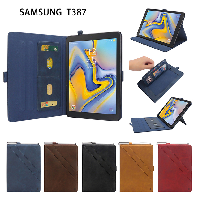 Tablet Case For Samsung Galaxy Tab A 8.0/8 Cover High Quality Leather SM-T387 T387 Book style Case for Samsung Galaxy Tab A 8.0