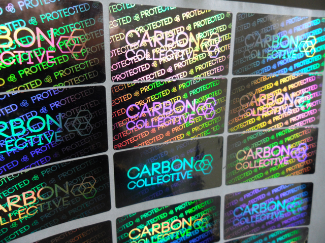 Customize Hologram stickers- sliver color material- security warranty counterfeit -one time use sticker printing