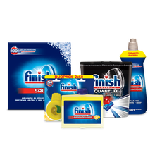 Finish Premium kit: brightener 800ml + Limpiamáquinas 250 ml + Salt 2 kg + Duplo Deo Lemon + Quantum Finish 48- dishwasher