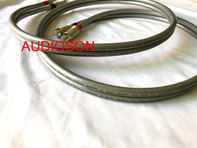 Hi-End AUDIOSON-Audio Note SOGON 50 Stand 99.99% pure Silver RCA interconnect Cable