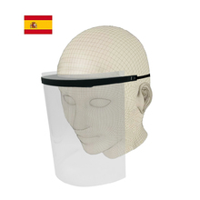 Face protective screen, protective visor transparent adjustable full face with protection for eyes and head.