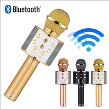Original Wster WS-858 Fashion Bluetooth Wireless Condenser Magic Karaoke Microphone Mobile Phone Player MIC Speaker Record Music