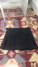 Product is fine. But it's extremely unflattering. And short. I should've looked at the length. You could probably find a better plain black pleated skirt in ASDA in the school section cheaper and more flattering.