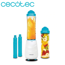 Cecotec Smoothies Power Mixer Titanium One Portable Tumbler Mixer Allow Chop Ice and Dishwasher Safe has 2 Refrigerator Pipes