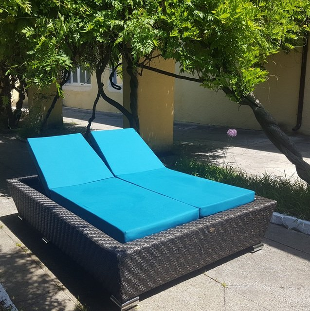 Chaise Lounge faux rattan Самуи double
