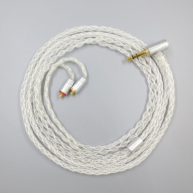 ZSFS 8 Core Silver Plated Balanced Cable With MMCX 2.5/3.5/4.4mm Balanced For Shure se215 315 se425 se535 Se846 ue900 Earphone