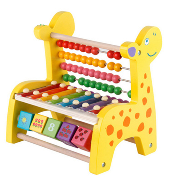 Xylophone Drum Sticks 8 Tone Fawn Arithmetic Wooden Colorful Wisdom Development Early Educational Music Instrument Toy Gifts
