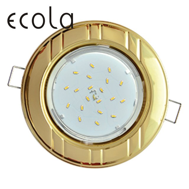 """Ecola GX53-H4 Dual Color slim recessed Ceiling Downlight Round Spotlight Hole Spot lamp GX53 Sockets """"6 bands"""" 36x106mm"""