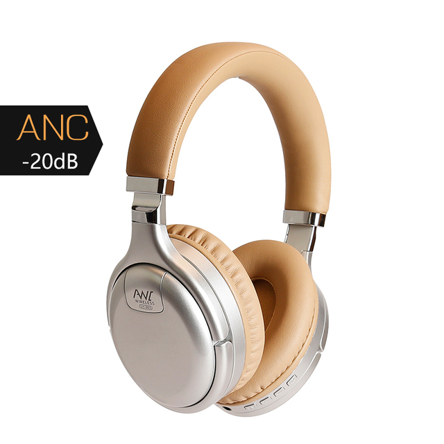 ANC Bluetooth Headphones Wireless & Wired Headset Active Noise Cancelling With Microphone Earphones Deep Bass 3D Hifi Sound
