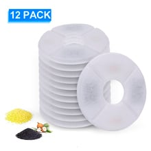 12pcs Activated Carbon Filter Charcoal For Automatic Water Drinking Fountain Cats Dogs Feeding Bowl Drink Filters Pets Supplies