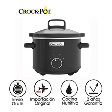 Crock-Pots Black Electric Cooking Pot Slow Cooker Digital Kitchen 2.4L 180W Easy Disassembly for Cleaning and Oven Stainless