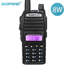 Baofeng UV-82 Walkie Talkie UV 82 Portable Two way Radio Dual PTT Ham CB Radio Station VHF UHF  8W 10KM UV82 Hunting Transceiver